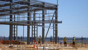 Industry building frame