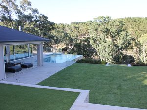 modern pool and landscape