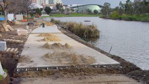 Torrens Lake Walk Construction - Adelaide