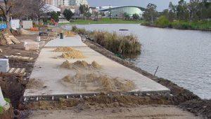 Torrens Lake Walk Construction - Adelaide